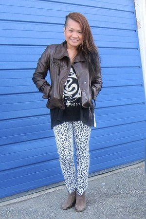 danier jacket - H&M pants