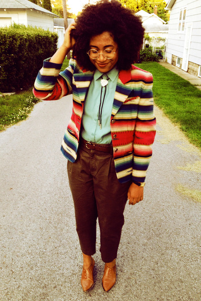 pendleton style Express blazer - mint Need Supply blouse