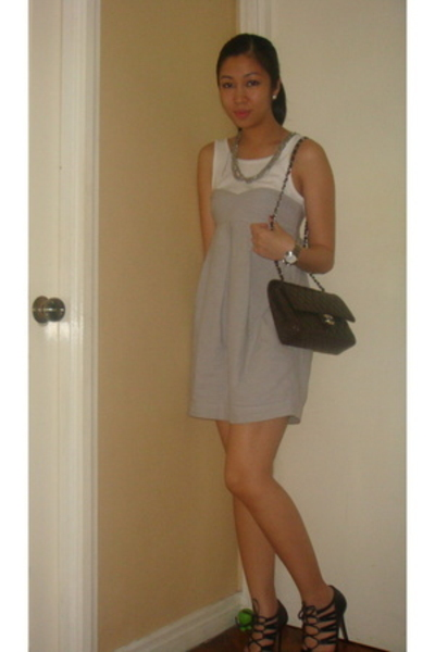 H&M dress - necklace - Cartier - Zara shoes - Chanel purse