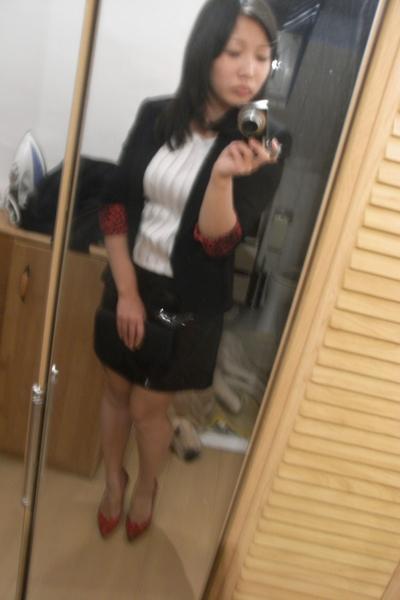 Italy shoes - Zara blazer - H&M blouse - H&M skirt