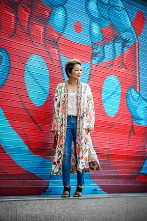 H&M coat - Diesel jeans