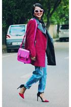 Zara sunglasses - Sheinsidecom coat - Zara heels