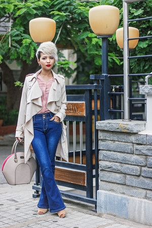 Chicwish coat - pauls boutique bag - Forever 21 heels
