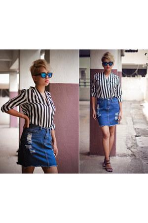 asos sunglasses - maroon Zara heels
