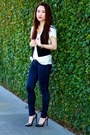 Abercrombie-jeans-zara-shirt-club-monaco-vest-christian-louboutin-heels