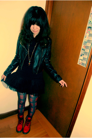 H&amp;M jacket - Dr Martens shoes - Forever 21 accessories - H&amp;M skirt