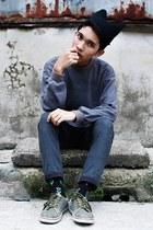 black beanie insane jungle hat - gray Hang Ten sweater