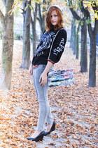 Patka Smirnow bag - H&M jeans - Cubus hat - floral print Cubus blouse
