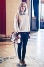 Brown-topshop-boots-black-primark-jeans-ivory-sweater