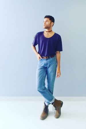 Marc Anthony boots - American Apparel shirt - Forever 21 belt