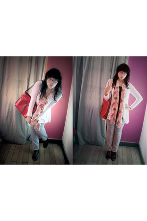 Zara top - unbranded top - Mitchybelle accessories - JKNK jeans - Yuan scarf