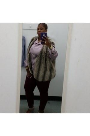 light purple Express blouse