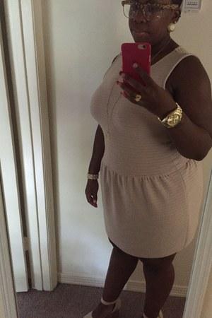 tan baby doll dress Forever 21 dress