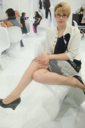 ivory Camden jacket - black Fahsion market dress - black Ebay shoes