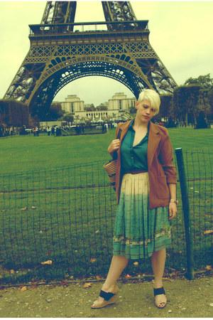 cream seaside pattern Primark skirt - bronze Topshop jacket