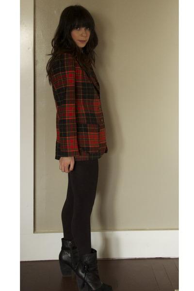 hinge boots - vintage blazer