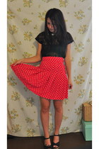 high waisted vintage skirt - Urban Outfitters blouse