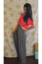cinema blouse - vintage pants