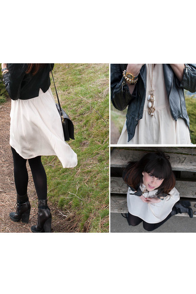 hinge boots - hi low hm dress