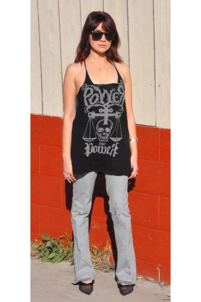 vivienne westwood jeans - Stella McCartney shoes - American Apparel bra