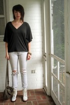 Anthropologie top - Urban Outfitters jeans - H&M purse - boots - accessories
