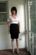 Express skirt - Anthropologie blouse - BCBG shoes - H&M bracelet