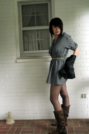 Forever21 dress - Knuths belt - Urban Outfitters jacket - CVS tights - Nordstrom