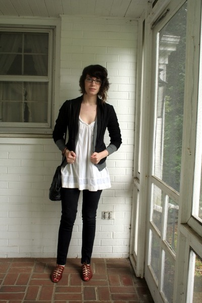 Urban Outfitters top - H&M sweater - Max Studio blazer - Target pants - vintage
