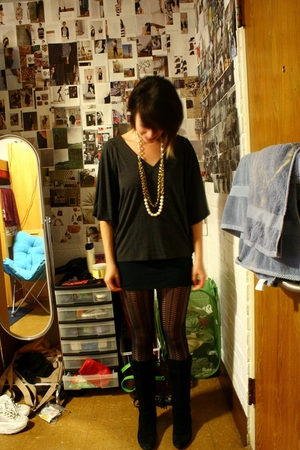 Urban Outfitters necklace - Anthropologie top - Nordstrom skirt - Urban Outfitte