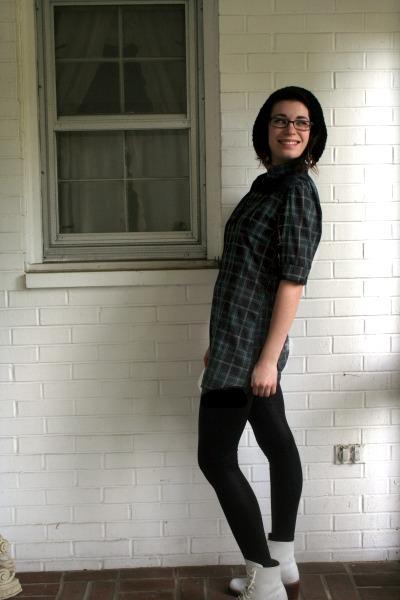 Urban Outfitters hat - Anthropologie shirt - american apperal leggings - Frye sh