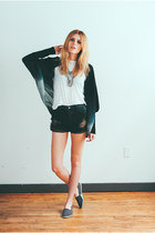 ombre Emu Australia cardigan - distressed One Teaspoon shorts