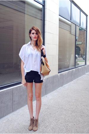 Love Culture top - color block asos bag - black leather Rampage shorts