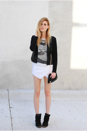 Mango t-shirt - bobi collections jacket - Sheinside shorts