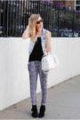 Minnetonka-moccasin-boots-denim-h-m-vest-ami-clubwear-pants