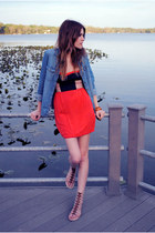 color block Urban Outfitters dress - chambray H&M top