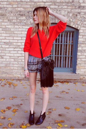 fringes Francescas Collections bag - Steve Madden boots - Zara sweater