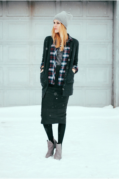 free people t-shirt - Jeffrey Campbell boots - flannel Urban Outfitters top
