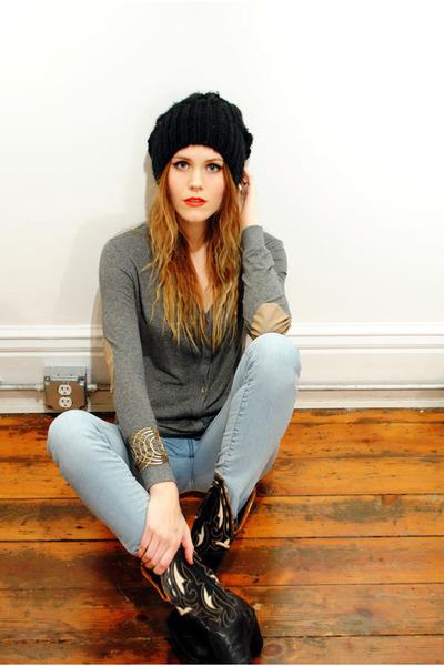 Zara cardigan - vintage boots