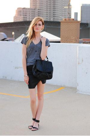 ami clubwear skirt - BDG shirt - H&M Trend bag - Steve Madden sandals