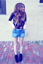 moccasins Minnetonka Moccasin boots - Zara shorts - Forever 21 top