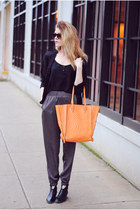 Francescas Collection bag - Steve Madden boots - Papaya clothing pants