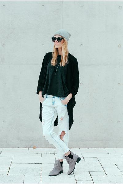 Jeffrey Campbell boots - boyfriend Zara jeans - peplum asos top