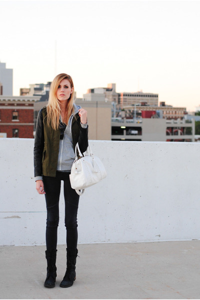 Kut jacket - combat Steve Madden boots - Zara jeans