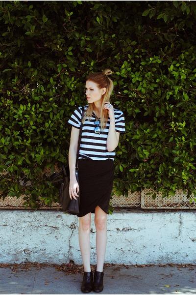 sam edelman boots - H&M shirt - wrap Zara skirt