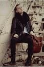 Dr-marten-boots-black-jeans-leather-biker-jacket-black-circle-scarf-bag-