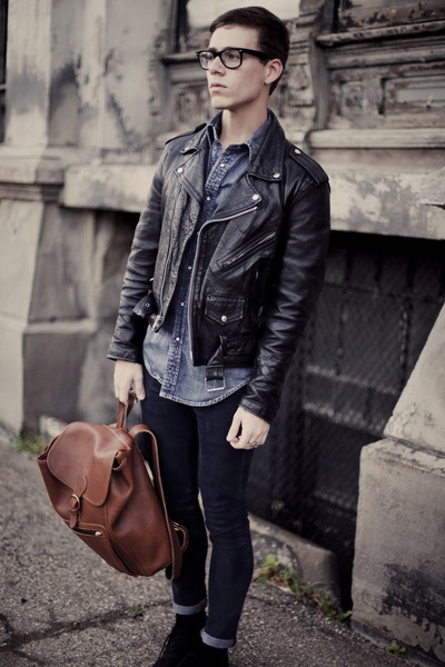 Men's Leather Biker Jackets, Tweed Oxford Asos Shoes, H&M Jeans ...