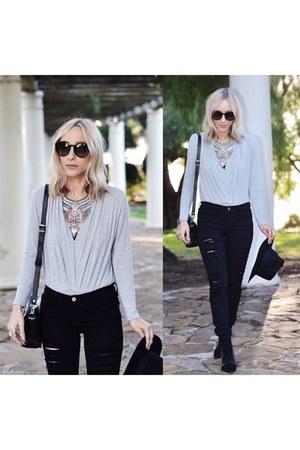 silver gray bodysuit bodysuit