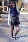 Silver-winners-cardigan-blue-fur-mendocino-scarf