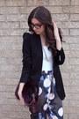 Magenta-fur-prada-purse-black-zara-blazer