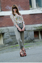 Zara blouse - Henri Bendel purse - Elizabeth & James sunglasses